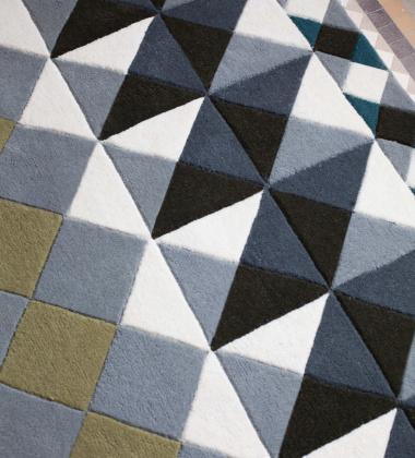 Dywan tkany wełniany MOSAIEK GREY 150x200 by Sandra Figuerola