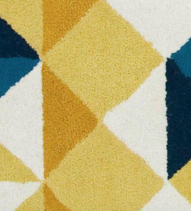 Dywan tkany wełniany MOSAIEK YELLOW 170x240 by Sandra Figuerola