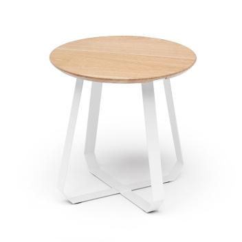Stolik kawowy SHUNAN 46x46x46 White-Natural Ash