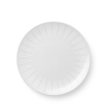 Talerz z porcelany Lotus 21 cm Biały Mat