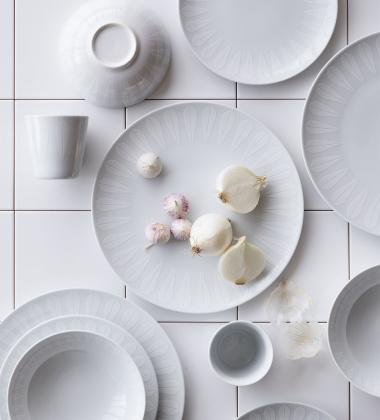 Miska z porcelany Lotus 18 cm Biały Mat