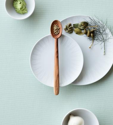 Miska z porcelany Lotus 28 cm Biały Mat