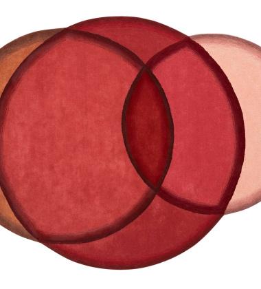 Dywan tkany wełniany CRYSTAL RED 190x260 by Charlotte Lancelot