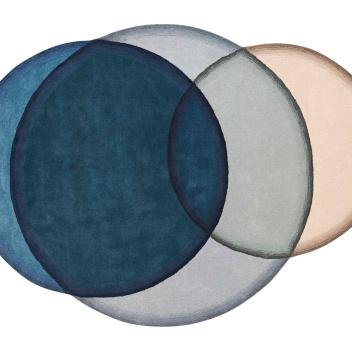 Dywan tkany wełniany CRYSTAL BLUE 190x260 by Charlotte Lancelot