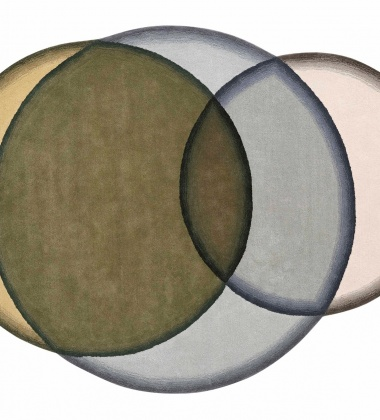 Dywan tkany wełniany CRYSTAL GREEN 190x260 by Charlotte Lancelot