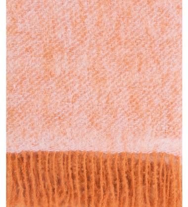 Koc REVONTULI Mohair 130x180 Rdzawo-Różowy