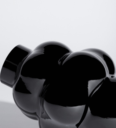 Wazon szklany BALLOON 04 H32 BLACK GLASS