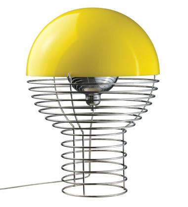 Lampa stołowa Wire 40 cm Żółta EXPO