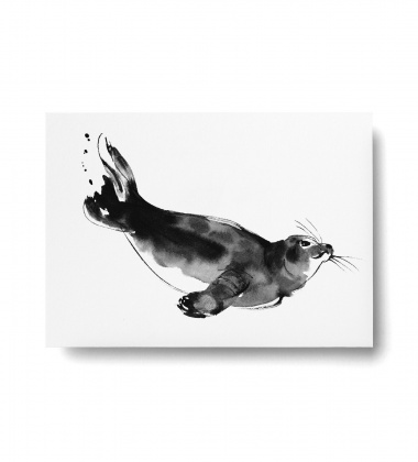 Kartka A6 foka Teemu Jarvi SEAL