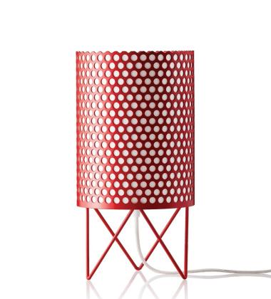 Lampa stołowa ABC Pedrera Czerwona EXPO