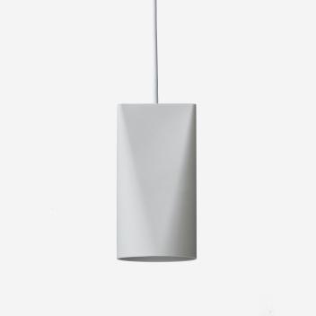 Lampa wisząca ceramiczna CERAMIC PENDANT NARROW 22x11,2 LIGHT GREY