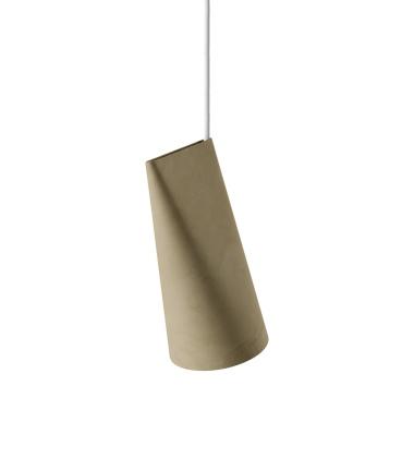 Lampa wisząca ceramiczna CERAMIC PENDANT NARROW 22x11,2 OLIVE