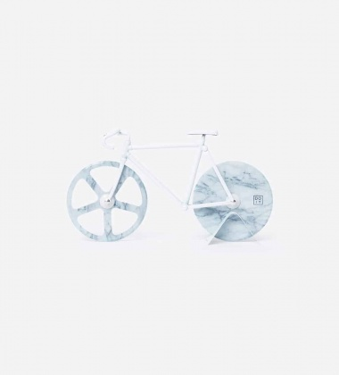 Nóż do pizzy THE FIXIE BIKE 22,5x13 White Marble