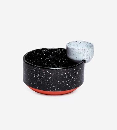 Zestaw ceramicznych misek do przekąsek ECLIPSE 20,5 cm Small Black & White
