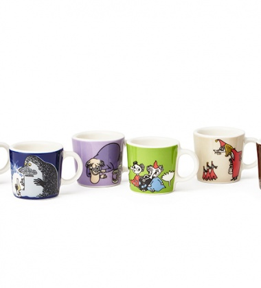 Komplet 6 mini kubeczków z porcelany Moomin Mini Mugs Collectors Set Classics no 2