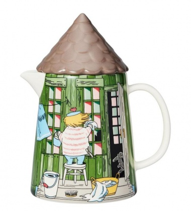 Dzbanek z porcelany z pokrywką 1L Moomin BATH HOUSE Pitcher
