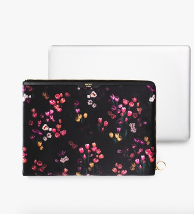Etui na Laptopa welurowe 13-inch MacBook TULIPS