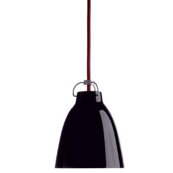Lampa wisząca Caravaggio P0 Czarny Połysk - Czerwony  Kabel