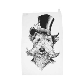 Ścierka kuchenna Sir Lancelot Welsh Terrier Dog 50x70 by Rory Dobner