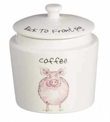 Pojemnik ceramiczny na kawę BACK TO FRONT COFFEE - PIG