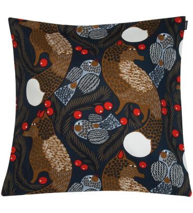 Poszewka na poduszkę KETUNMARJA 50x50 Dark Blue - Brown by Marimekko