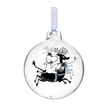 Bombka szklana muminki 9 cm REINDEER RIDE Moomin Ball