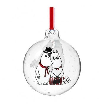 Bombka szklana muminki 9 cm MOOMINMAMMA and MOOMINPAPPA Moomin Ball