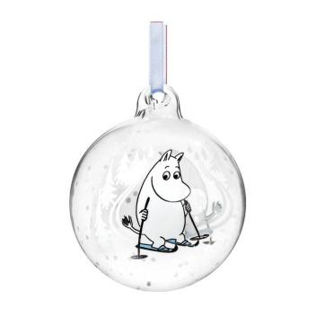 Bombka szklana muminki 9 cm SKI TRIP Moomin Ball