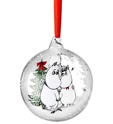 Bombka szklana muminki 9 cm WINTER MAGIC Moomin Ball