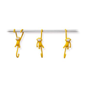 Haczyki JUST HANGING Set 3 Żółte by Monkey Business