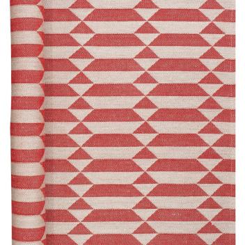 Bieżnik do sauny HILA 46x60 Czerwono-Lniany