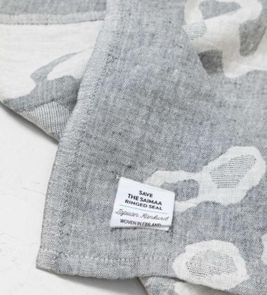 Ręcznik lniany SAIMAANNORPPA 48x70 Szary