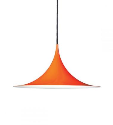 Lampa wisząca Semi 30 cm Pomarańczowa Połysk