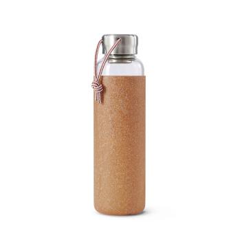 Butelka szklana na wodę GOOD w TPE 600 ml Migdałowa