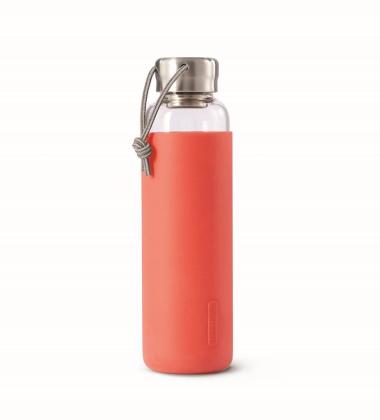 Butelka szklana na wodę GOOD w TPE 600 ml Koralowa