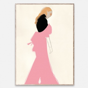 Poster 50x70 PINK DRESS by Amelie Hegardt