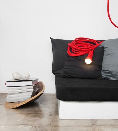 Lampa Matt Stop Cotton Czerwona