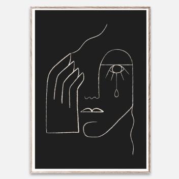 Poster 50x70 SINGLE TEAR by Kit Agar