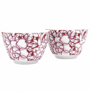 Czarki porcelanowe do herbaty YANTAI Set 2 Czerwone by Bredemeijer