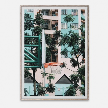 Poster 50x70 Cities of Basketball 01 Hong Kong By Kasper Nyman