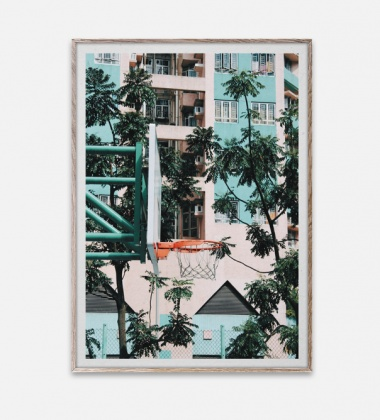Poster 50x70 Cities of Basketball 01 Hong Kong By Kasper Nyman