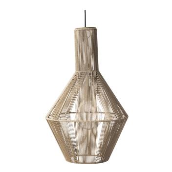 Lampa wisząca z woskowanego papieru SPINN 39 PENDANT Natural