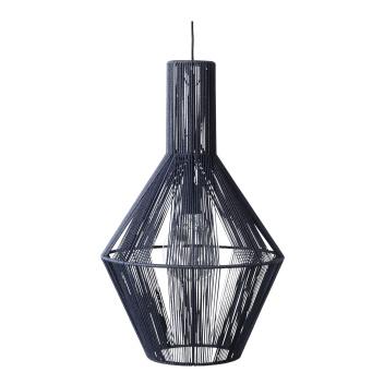 Lampa wisząca z woskowanego papieru SPINN 39 PENDANT Blue
