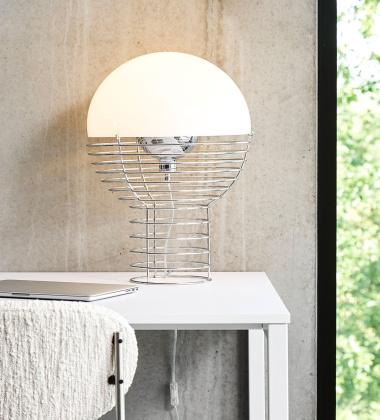 Lampa stołowa WIRE Table 40 cm Biała