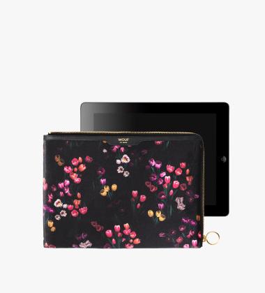 Etui welurowe na iPad Sleeve Velvet 25x18 TULIPS