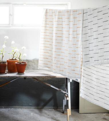 Ręcznik kąpielowy lniany PAUSSI 95x180 cm Linen-Rust