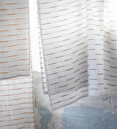 Ręcznik kąpielowy lniany PAUSSI 95x180 cm Linen-Dark Grey