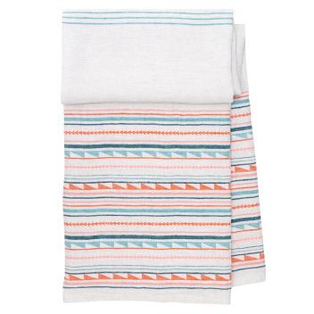 Ręcznik kąpielowy lniany WATAMU 95x180 cm Blue-Red
