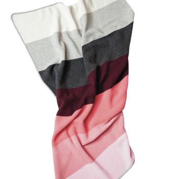 Koc Gradient Colour Wool 130x170 Szaro-Bordowy