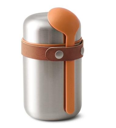 Termos obiadowy stalowy 0,4L FOOD FLASK Pomarańczowy By Black and Blum